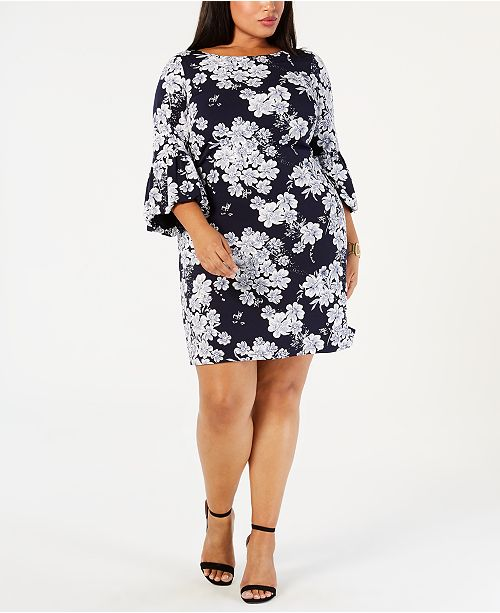 a a fleurs a Jessica manches HowardRobe grande longues taille imprimees et XukiZP
