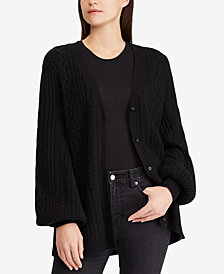 Lauren Ralph Lauren Bishop-Sleeve Cardigan