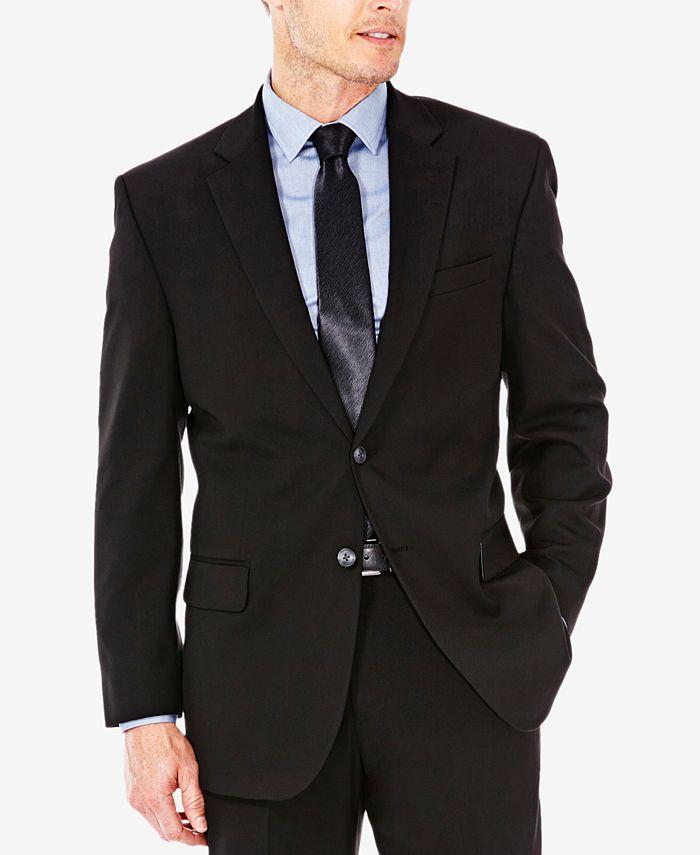 Haggar - Men's Sharkskin Classic-Fit Suit Jacket