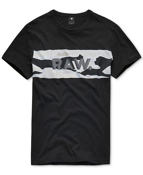 G Star Raw Men's Tairi Camo Colorblocked T Shirt, Created