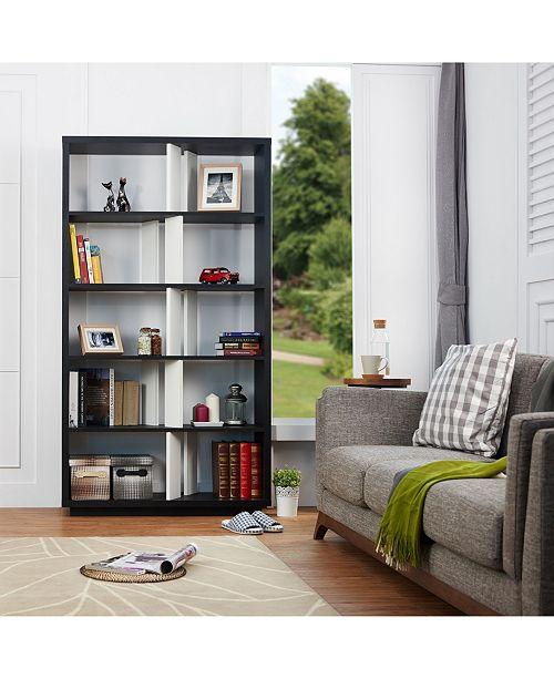 Furniture of America Brittany 5 Shelf Bookcase