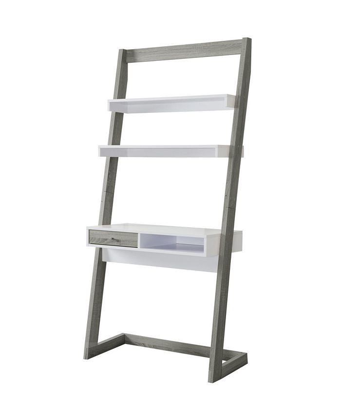 Furniture of America - Lazlo Leaning Display Case