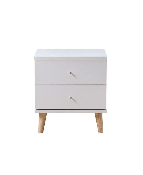 Furniture of America Massenburg III Modern 2-Drawer Nightstand