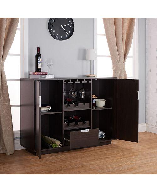 Furniture Of America Porter Modern Wine Rack Buffet