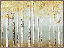 Soft Birch Framed Hand Embellished Canvas