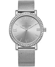 Women's 'Indio' Minimalist Crystal Accented Mesh Bracelet Watch