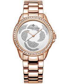 Women's 'Katy' Crystal Accented Rose Petal Bracelet Watch