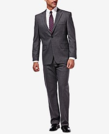 J.M. Men's Classic/Regular Fit Stretch Sharkskin Suit Separates