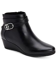 Giani Bernini Cherub Wedge Memory Foam Ankle Booties, Created for Macy's