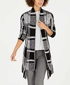 Plaid Jacquard Cardigan Sweater, Created for Macy's