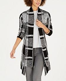 Plaid Jacquard Cardigan Sweater, Created for Macy's