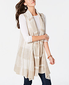 Style & Co Plaid Jacquard Vest, Created for Macy's