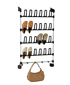 Organize it All Over-the-Door 12 Pair Shoe Rack with Hook