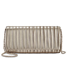 Adrianna Papell Pleated Clutch