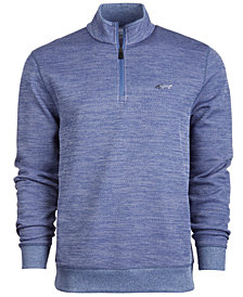 Attack Life by Greg Norman Men's Rapiwarm Quarter Zip Herringbone Sweater, Created for Macy's
