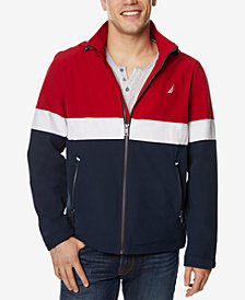 Nautica Men's Removable-Hood Colorblocked Full-Zip Jacket