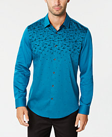 Alfani Men's Ombré Geo-Print Shirt, Created for Macy's