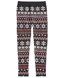 Epic Threads Big Girls Fair Isle Leggings, Created for Macy's