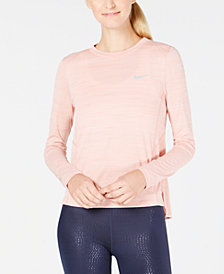 Nike Miler Breathe Long-Sleeve Running Top