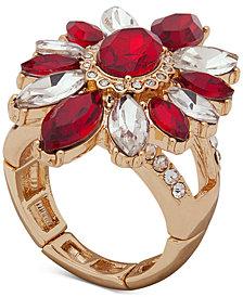 Anne Klein Stone & Crystal Stretch Ring