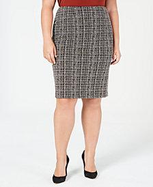 Kasper Plus Size Tweed Skirt