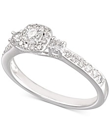 Certified Diamond Engagement Ring (1/2 ct. t.w.) in 14k White Gold, Created for Macy's