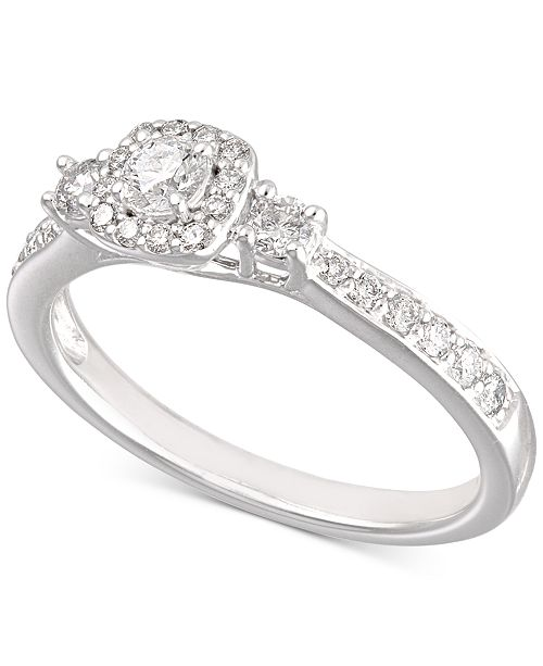6fa9b03f6 ... X3 Certified Diamond Engagement Ring (1/2 ct. t.w.) in 14k White ...