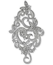 Diamond Openwork Vintage-Look Swirl Ring (1/6 ct. t.w.) in Sterling Silver
