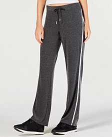 Calvin Klein Performance Open-Leg Varsity-Stripe Pants