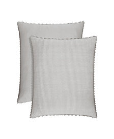 Piper & Wright Sabrina Grey Euro Sham