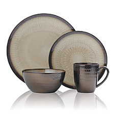 Mikasa Gourmet Basics Anastsia Cream 16 PC Dinnerware Set