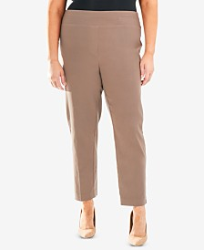 NY Collection Plus Size Pull-On Ankle Pant