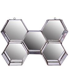 Nico Hexagon Metal And Glass Wall Mirror Display