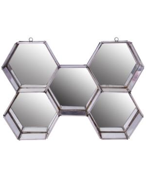 Image of A Home Nico Hexagon Wall Mirror Display