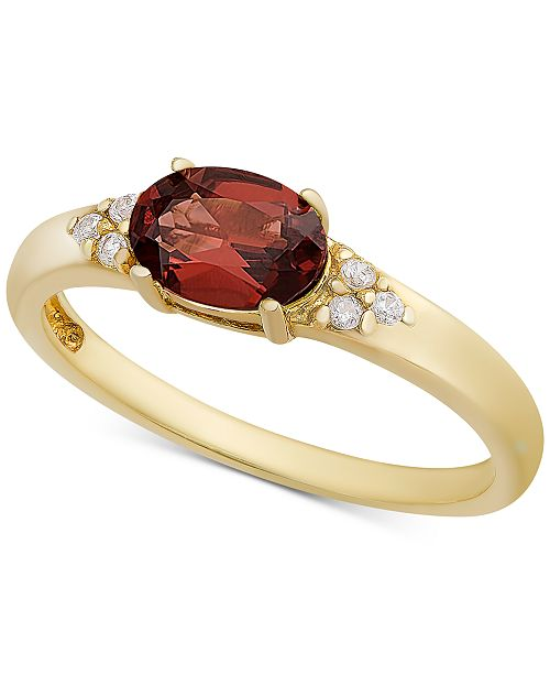 Macy's Rhodolite Garnet & Cubic Zironcia Ring in 18k Gold-Plated Sterling Silver (Also in Amethyst, Blue Topaz, Peridot or Citrine)