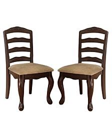 Pienne Dark Walnut Dining Chair (Set of 2)