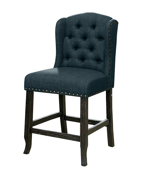 Furniture of America Langly Tufted Upholstered Pub Chair (Set of 2)