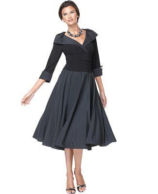 Jessica Howard Portrait-Collar A-Line Dress - Dresses - Women - Macy's