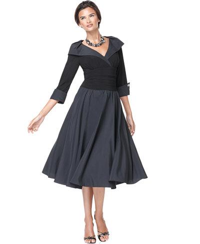 Jessica Howard Portrait-Collar A-Line Dress - Dresses - Women - Macy\'s