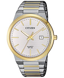 Men's Quartz Two-Tone Stainless Steel Bracelet Watch 39mm