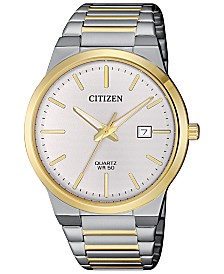 Citizen Men's Quartz Two-Tone Stainless Steel Bracelet Watch 39mm