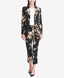 Calvin Klein Floral-Print Blazer & Tailored Pants