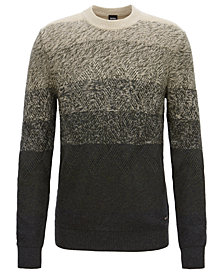 BOSS Men's Aran-Knit Sweater