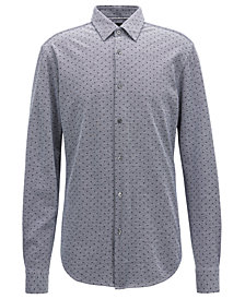BOSS Men's Slim-Fit Printed Cotton Shirt