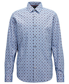 BOSS Men's Regular/Classic-Fit Cotton Paisley Shirt