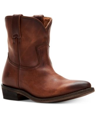 Billy Short Leather Booties