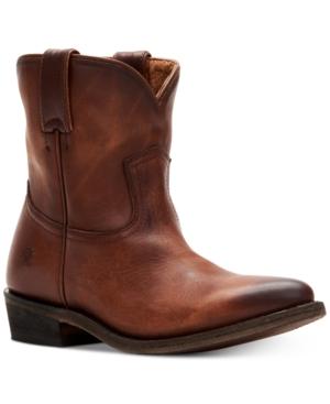 Frye Women's Billy Short Leather Booties Women's Shoes In Cognac
