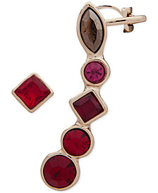 DKNY Gold-Tone Stone Mismatch Earrings, Created for Macy's
