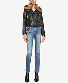 BCBGMAXAZRIA Kaylee Leather Biker Jacket