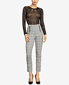 BCBGMAXAZRIA Straight-Leg Houndstooth Trousers